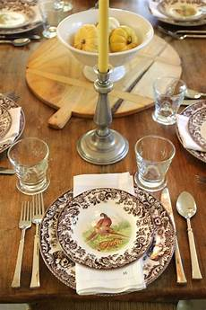 Table Setting by Steffens Hobick Creams Brown Fall Table Setting