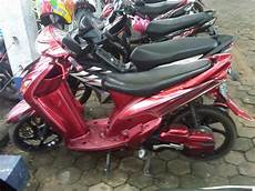Modifikasi Warna Motor Mio by Modifikasi Yamaha Mio Sporty Warna Merah Modifikasi