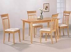 esstisch holz hell warm light maple wood finish modern 5pc casual dining set