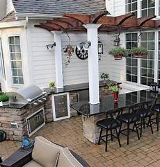 Decorating Ideas For Outdoor Kitchen by 101 Outdoor Kitchen Ideas And Designs Photos Outdoor