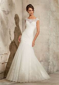 lace on net wedding dress style 5305 morilee