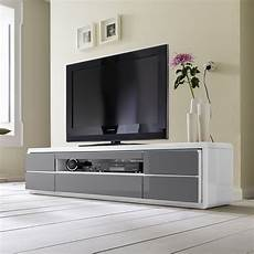 Frame Lcd Tv Stand In White Grey Gloss With Led And 5
