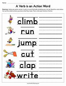 a verb is an action word worksheet have fun teaching