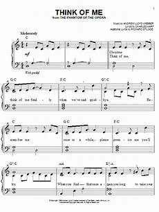 think of me from the phantom of the opera sheet music by andrew lloyd webber easy piano 81255