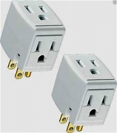 2 triple outlet grounded electric wall 3 way tap power adapter 689720192884 ebay