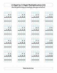 multiplication worksheets x2 4678 2 digit by 2 digit multiplication with grid support a