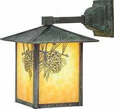 meyda 41201 seneca winter pine rustic beige verd outdoor wall light sconce mey 41201