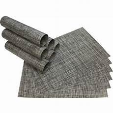 platzset grau tischset platzset elegance grau meliert gewebt kunststoff