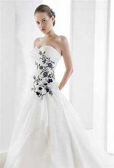 White Wedding Dress With Black Lace