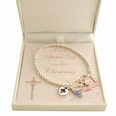 christening bracelet with birthstone gift for
