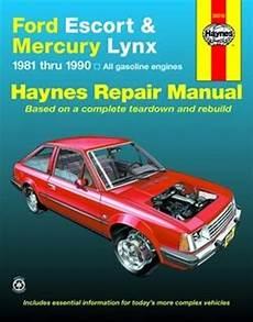 service manuals schematics 1986 mercury lynx transmission control haynes repair manual for ford escort and mercury lynx 1981 thru 1990