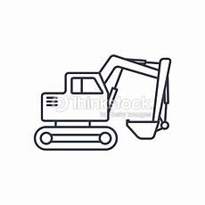 excavator outline icon stock vector thinkstock