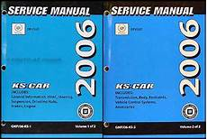 online car repair manuals free 2006 cadillac dts parking system 2006 cadillac deville and dts repair shop manual original 2 volume set