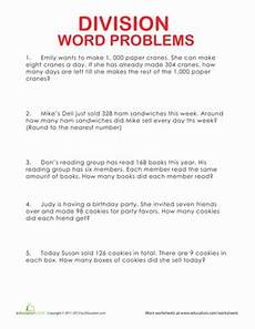 word problem division worksheets 5th grade 11008 division word problems worksheet education
