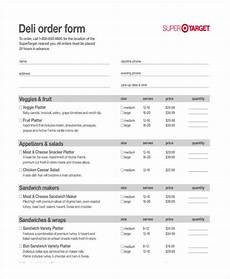 free 11 catering order forms in pdf excel ms word