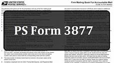 what does a ps form 3877 like