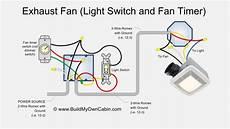 exhaust fan wiring diagram fan timer switch