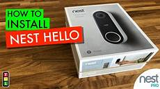 how to install and up the nest hello video doorbell youtube