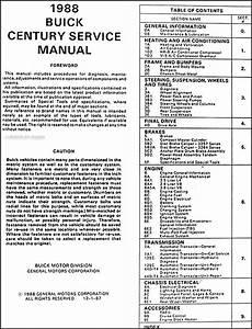 how to download repair manuals 1986 buick century lane departure warning 1988 buick century repair shop manual original