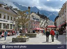 Shops In Centre Of Town Chamonix Mont Blanc Alps