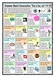 grammar lesson worksheets 24867 grammar meets conversation 9 question tags 9 asking for general information การศ กษา