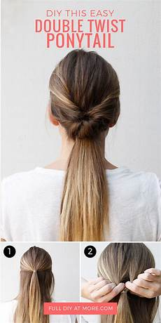 this double twist ponytail is the five minute hairstyle hair styles