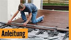 wpc unterkonstruktion balkon wpc terrasse bauen hornbach meisterschmiede