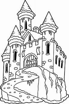 frozen castle coloring page wecoloringpage