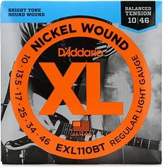 D Addario Exl110bt Nickel Wound Electric Strings 010