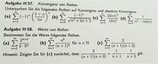 reihen auf konvergenz und absolute konvergenz untersuchen