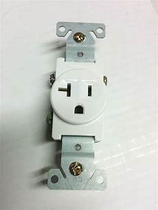 10 pc single receptacle 20 20a 125v ac outlet 2 pole 3 wire white ebay