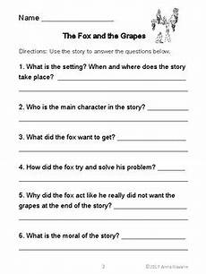 aesop s fables with comprehension pages by anna navarre tpt