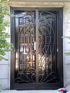 porte d entrée en metal wrought iron front door