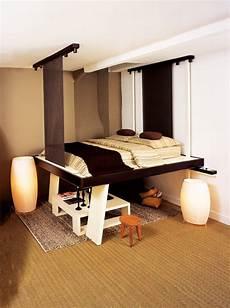 espace loggia lit mezzanine plateau mobile electrique nuit