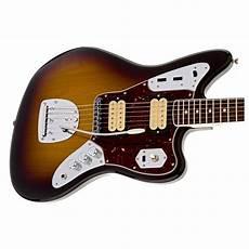 kurt cobain jaguar guitar fender kurt cobain jaguar nos guitar 3 tone sunburst at