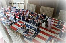 deco theme usa decoration de table etats unis