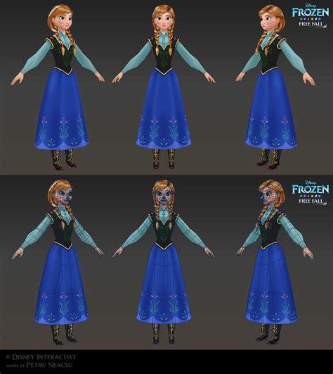 Frozen Anna 3d Model