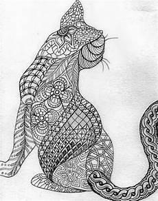Ausmalbilder Zum Drucken Tier Mandalas Mandala Gato Mandala Cat Cat Coloring Page Animal