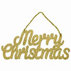 14 quot gold glittered merry christmas hanging sign 82412ch craftoutlet com