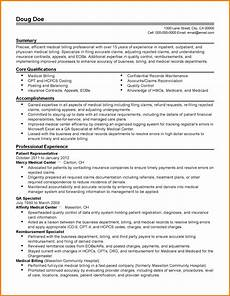 6 entry level medical billing resume sle travel bill