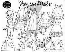 paper doll coloring pages 17642 four paper dolls in black and white for coloring