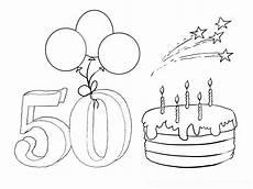 Ausmalbilder Geburtstag Kostenlos Ausmalbild Zum 50 Geburtstag Malvorlagentv