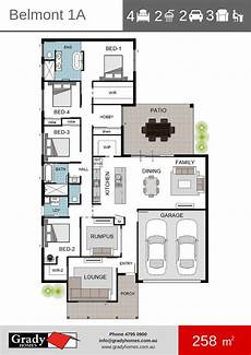 house plans townsville belmont 1 grady homes floor plan townsville builder
