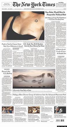 Malvorlagen New York Times New York Times Powerful Front Page For Breast Cancer