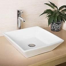 Keramik Waschbecken Bad - new bathroom white square porcelain ceramic vessel sink