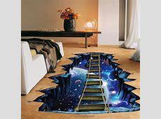 NEW Large 3d Cosmic Space Wall Sticker Galaxy Star Bridge