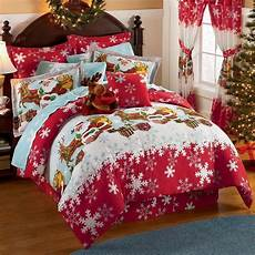 holiday bed sheets new christmas up roof top comforter sheets bed in bag or queen ebay