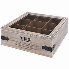 kiste mit klappdeckel bauen toci teebox holz natur mit 9 f 228 chern quadratische