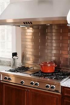 Metallic Kitchen Backsplash 25 Trendy Metal Kitchen Backsplashes To Try Digsdigs