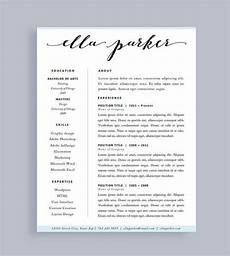resume template made to order header instant download for word and pages free cover